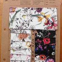 现货供应3150数码转印清新花色皮革,蝴蝶水仙花图案十磅布底