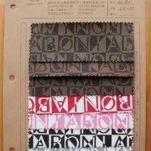 8111字母印刷PVC皮革双色字母折射图案起毛布底适用箱包手