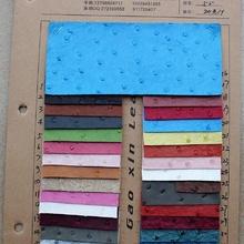 现货供应6048鸵鸟纹PVC.压延亚光效果拉毛底材质适用手袋