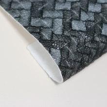 金歆尚皮革新品上市pvc编织纹纺棉纶1.0mm用于鞋、包等