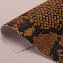 现货供应PU革 蛇纹加印刷 适用于:手袋、鞋材、包装、装饰等