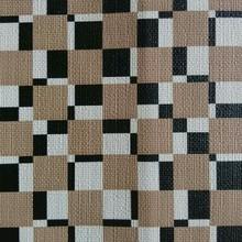 集泰皮革 现货供应印刷间格纹 手袋箱包 餐椅网吧椅家具革