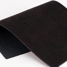 面料火力推出PU字母文字纹仿棉绒1.0mm用于鞋革,箱包手袋