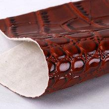 现货供应PVC鳄鱼纹弹力起毛底1.2mm适用于手袋,钱包书包