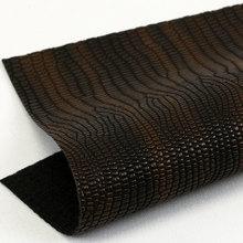 精品面料印刷湿法PU蜥蜴纹起毛底0.8mm适用于箱包手袋鞋革