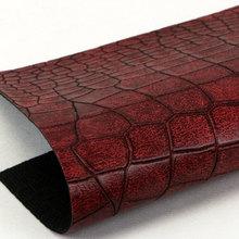精品面料印刷湿法PU0.9鳄鱼纹弹力起毛底用于箱包手袋 鞋革