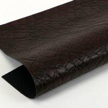 精品面料压花PU 0.9蛇纹 弹力起毛底 用于箱包手袋 鞋革