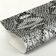 精品面料压花印刷PU 0.9蛇纹弹力起毛底用于箱包手袋 鞋革