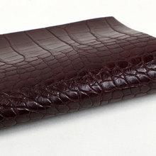 精品面料压花PU 1.1鳄鱼纹弹力起毛底 用于箱包手袋 鞋革
