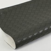 精品面料压花印刷PU1.1编织纹弹力起毛底用于箱包手袋 鞋革