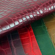 高端面料 压花PVC鳄鱼纹麂皮绒底1.8mm适用于箱包鞋革等