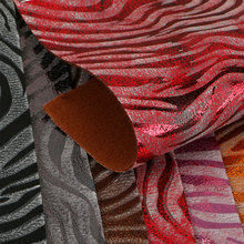 高端面料羊巴PVC斑马纹仿棉绒底1.2mm适用于箱包 鞋革等