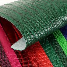 高端面料压花PVC鳄鱼纹拉毛底1.5mm适用于箱包鞋革等