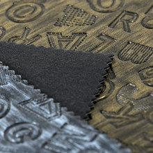 诚信推荐 擦色PU字母文字纹仿棉绒底1.1mm用于是女包饰品