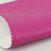 精致面料 pu字母文字纹 仿棉绒底1.1mm 可用于女包饰品
