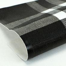 优质现货热销PVC数码打印格子纹1.0mm箱包鞋革 装饰用