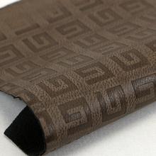 精品现货 字母纹PU革 仿棉绒底0.8mm 适用于鞋革等