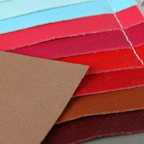 229718环保PVC十字纹弹力起毛厚度0.9箱包手袋皮具料