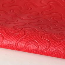 专业压变色革 pu波浪纹水刺底0.7mm用于电子包装本册