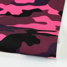新品PU革贴膜迷彩纹 仿棉绒底0.8mm适用于箱包,鞋革