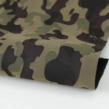 新品PU革 迷彩纹 仿棉绒底1.0mm适用于箱包,鞋革