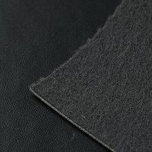 41个纹路黑色半PU,1.0mm,双针拉毛布底