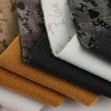 PU 字母纹羊巴 仿棉绒底0.8mm 适用于鞋,箱包等