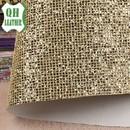 厂家批发PU皮革 箱包皮革 金葱粉网布装饰皮革 网布格麗特