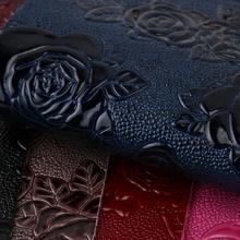 专业PVC 湿气固化 花朵植物纹,针织弹力起毛底1.1mm 适用于箱包手袋,化妆包等