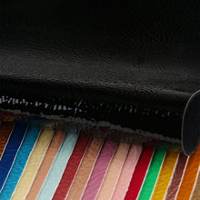 宽发湿气固化PU革 哈密瓜纹 仿棉绒底0.9mm 用于鞋革等