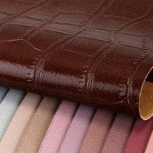 大量现货pu革 大鳄鱼纹 毛布底1.2mm 适用于:鞋革、箱包、女包等