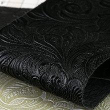 大量现货PU革 植物花朵纹 毛布底0.65mm 适用于:鞋革、箱包、女包等