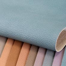 大量现货PVC革 荔枝纹 仿棉绒底1.2mm 适用于:鞋革、箱包、女包等