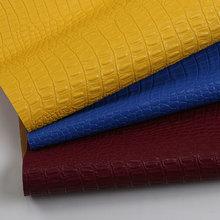 热销PU 鳄鱼纹 仿棉绒底0.8mm 适用于箱包手袋等